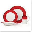 Lenox Pleated Colors Red Dinnerware 4 Piece Place Setting