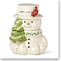 Lenox 2019 Happy Holly Days Snowman Cookie Jar