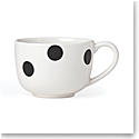 Kate Spade China by Lenox, Deco Dot Black Latte Mug