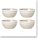 Kate Spade China by Lenox, Sculpted Stripe Beige All Purpose Bowl Set Of Four