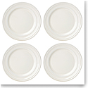 Kate Spade China by Lenox, Sculpted Stripe Cream Accent Plate Set Of Four