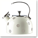 Kate Spade New York, Lenox Deco Dot Beige Metal Kettle