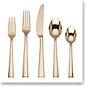 Lenox Colebrook Flatware Champagne 5 Piece Place Setting