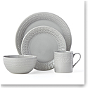 Kate Spade New York, Lenox Stoneware Willow Drive Grey 4pc Place Setting