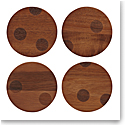 Kate Spade by Lenox, Deco Dot Wood Coasters Set Of Four