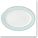 "Lenox Pleated Colors Aquamarine Dinnerware Platter 16"""