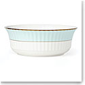 Lenox Pleated Colors Aquamarine Dinnerware Serving Bowl