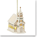 Lenox 2021 Christmas Village Lit Church Ornament