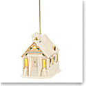 Lenox 2021 Christmas Village Lit Schoolhouse Ornament
