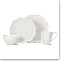 Lenox Chelse Muse Dinnerware Scallop White 4 Piece Place Setting