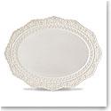 Lenox Chelse Muse Dinnerware Sculp Grey Platter
