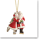 Lenox 2021 Ice Skating Santa and Mrs. Claus Ornament
