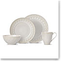Lenox Chelse Muse Dinnerware Fleur Grey 4 Piece Place Setting