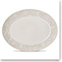 Lenox Chelse Muse Dinnerware Grey Platter