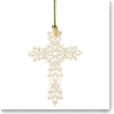 Lenox 2019 Snow Fantasies Cross Christmas Ornament