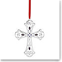 Lenox 2019 Gemmed Cross Ornament