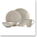 Lenox Trianna Taupe Dinnerware 4 Piece Place Setting