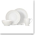 Lenox Chelse Muse Dinnerware Fleur White 4 Piece Place Setting