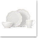 Lenox Chelse Muse Dinnerware Flared White 4 Piece Place Setting