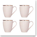 Lenox Trianna Blush Dinnerware Mugs Set Of Four