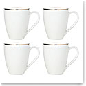 Lenox Trianna White Dinnerware Mugs Set Of Four