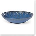 "Lenox Global Tapestry Stoneware Low Bowl Blue 13"""