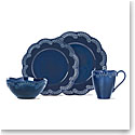 Lenox Chelse Muse Dinnerware Flared Navy 4 Piece Place Setting