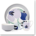 Kate Spade China by Lenox, Stoneware Nolita Blue Floral 4 Piece Place Setting