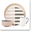 kate spade new york Lenox Stoneware Nolita Gray 4 Piece Place Setting