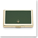 Kate Spade New York, Lenox Spade Street Gold Business Card Holder, Green