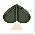 kate spade new york Lenox Spade Street Gold Jewelry Dish, Green Spade