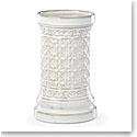 "Lenox Global Tapestry Stoneware 8"" Pillar Candle Holder White"