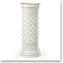 Lenox Global Tapestry Stoneware Pillar Candle Holder White 12""