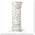 "Lenox Global Tapestry Stoneware Pillar Candle Holder White 12"""