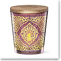 """Lenox Global Tapestry Glass Votive Magenta with Tealight 4.5"""""""