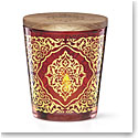 Lenox Global Tapestry Glass Votive Red with Tealight 4.5""