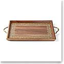 "Lenox Global Tapestry Wood Handled Rectangular Tray 20"""