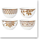 Lenox Global Tapestry Gold Dinnerware Dessert Bowl Set Of Four
