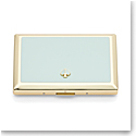 Kate Spade New York, Lenox Spade Street Gold Business Card Holder, Aqua