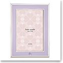 """kate spade new york Lenox Spade Street Silver 4""""x6"""" Frame. Lilac"""