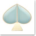 kate spade new york Lenox Spade Street Gold Jewelry Dish, Aqua Spade
