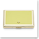 Kate Spade New York, Lenox Spade Street Gold Business Card Holder, Citron
