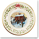 Lenox 2019 Holiday Plate, Barn Scene