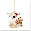 Lenox 2021 Snoopy Sledding Into the Holidays Ornament