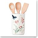 Lenox Butterfly Meadow Dinnerware Utensil Jar With Utensils