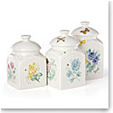 Lenox Butterfly Meadow Dinnerware Square Canisters Set Of Three