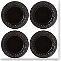 Lenox Chelse Muse Dinnerware Fleur Matt Black Dinner Set Of Four