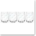Kate Spade New York, Lenox Spade Clover Stemless Wine Glass Set Of Four