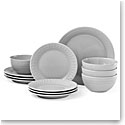 Kate Spade China by Lenox, Stoneware Willow Drive Grey 12pc Set