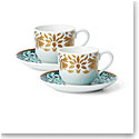 Lenox Global Tapestry Aquamarine Gd Dinnerware Cup Saucer Set